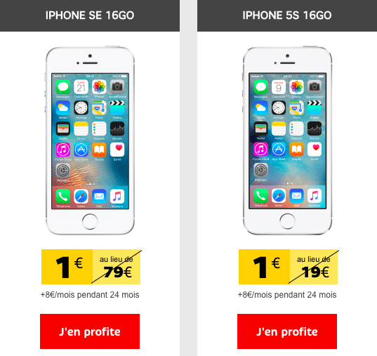 SFR promo iphone