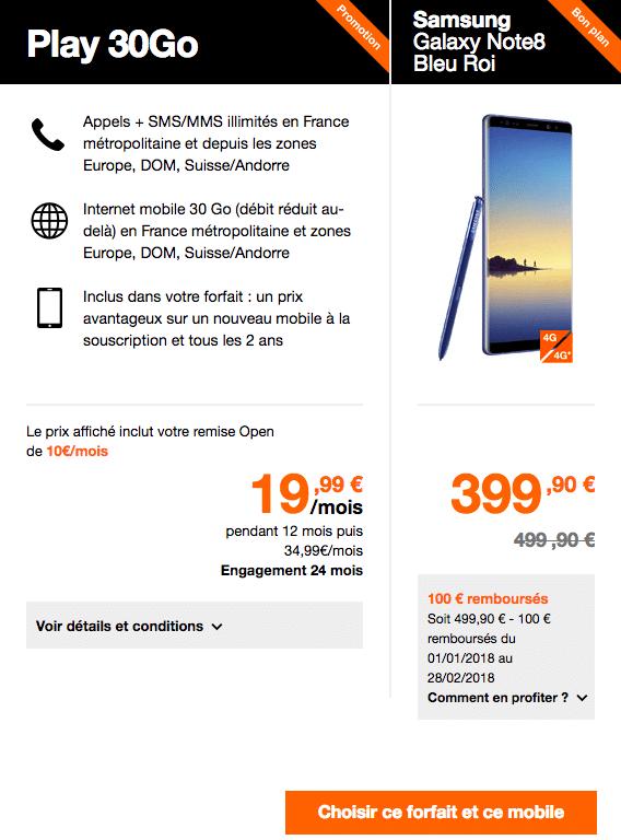 Samsung Note8 Orange
