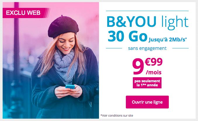Bouygues Telecom propose un forfait spécial en promotion.