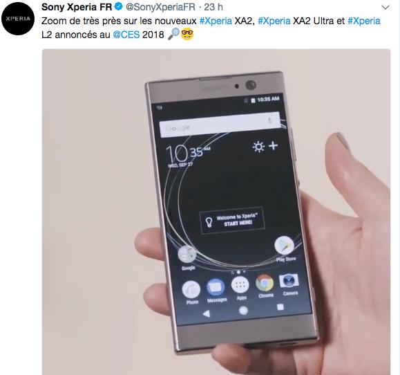 Sony est présente au CES 2018