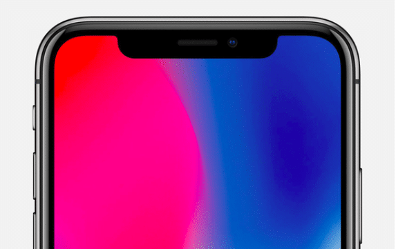 L'encoche de l'iPhone X de l'Américain Apple.