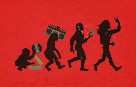 La musique a réussi à évoluer avec le temps.