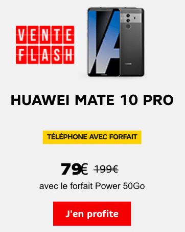 Le Huawei Mate 10 Pro est en promotion avec une vente flash de SFR.