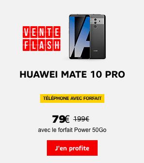 Le Huawei Mate 10 pro est en promotion chez SFR.