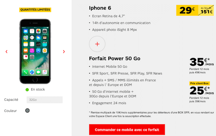 iPhone 6 Apple sfr promo