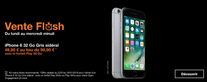 Orange propose une vente flash avec l'iPhone 6.