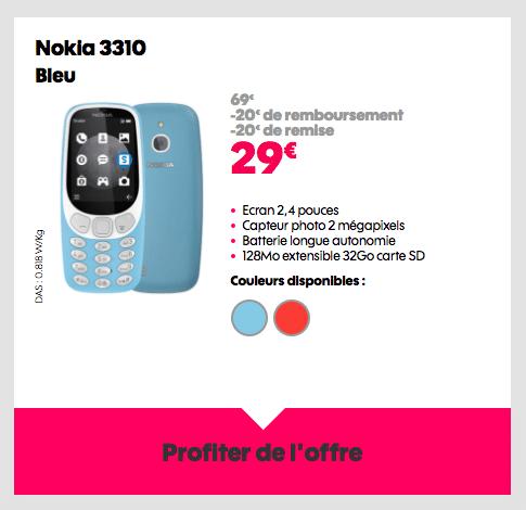 Le Nokia 3310 est en promotion chez Sosh.
