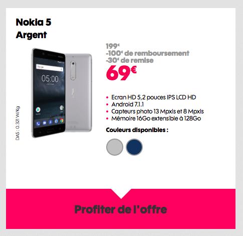 Le Nokia 5 est en promotion chez Sosh.