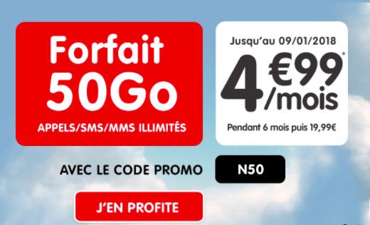 forfait mobile NRJ code promo