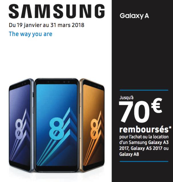 La réduction de Samsung pour le Galaxy A8.
