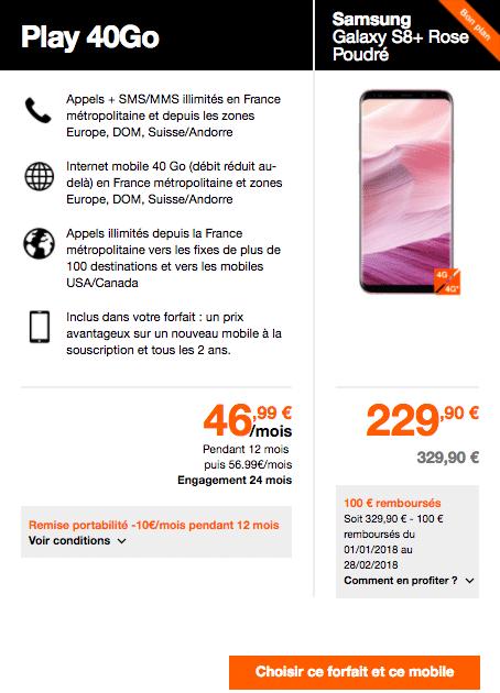 Comment acheter le Galaxy S8 en promotion chez Orange ?