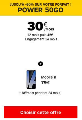 En complément du Forfait Power 50 Go, le Huawei Mate 10 Pro est en promotion chez SFR.