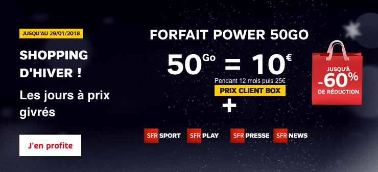 Forfait Power 50 Go de SFR Altice
