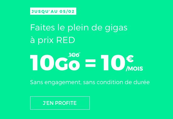 RED by SFR propose un forfait spécial en promotion.