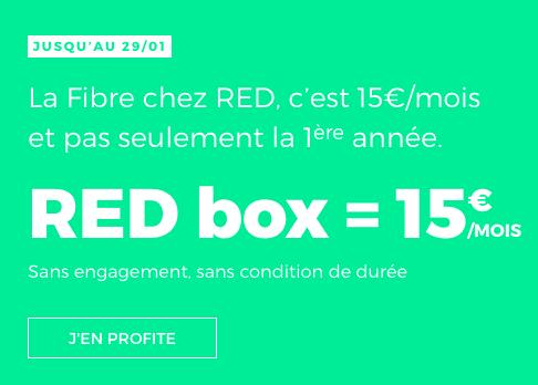 La RED Box série spéciale est disponible pour 15 euros par mois.