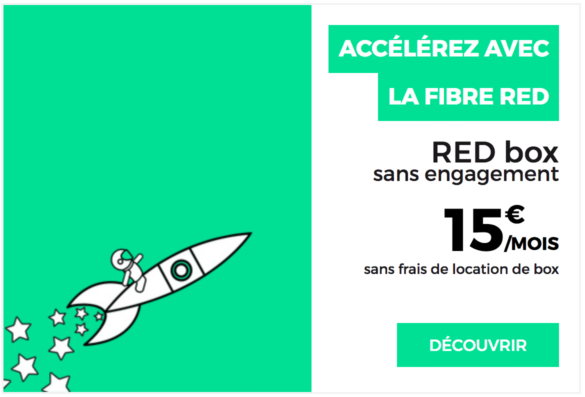 Box internet RED by SFR pour 15 euros par mois