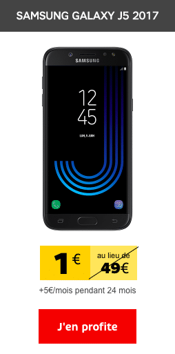 Le Samsung J5 2017 est en promotion chez SFR.