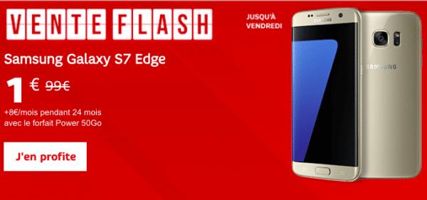 SFR propose une vente flash exceptionnelle pour un Galaxy S7 Edge à 1 euro