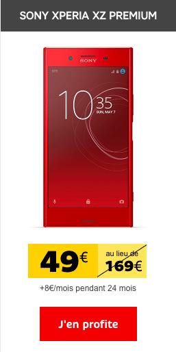 Le Sony Xperia XZ Premium est en promotion chez SFR.