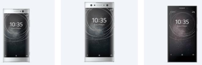 Sony a présenté trois smartphones lors du CES 2018