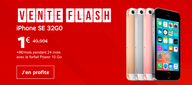 vente flash SFR iphone se