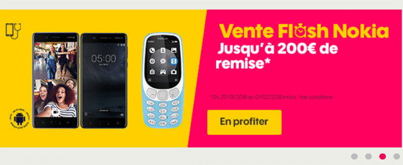 vente flash de sosh les t l phones nokia en promotion. Black Bedroom Furniture Sets. Home Design Ideas