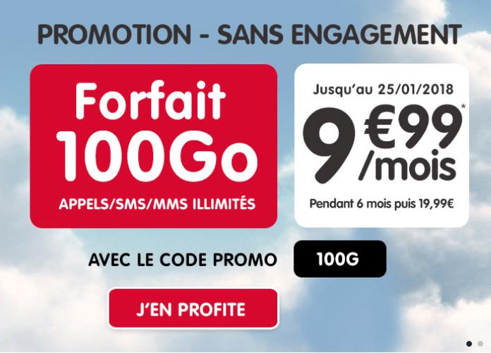 Forfait mobile 100 Go de NRJ Mobile