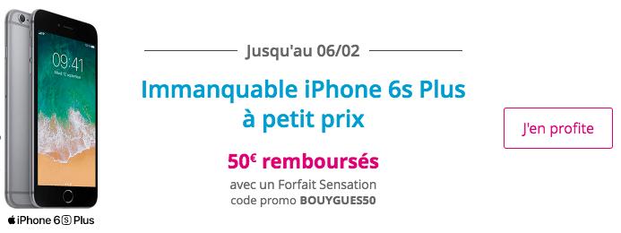 Bouygues Telecom iPhone 6s Plus promo