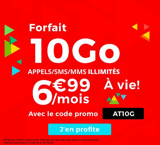 La promotion 10 Go de Auchan Télécom.