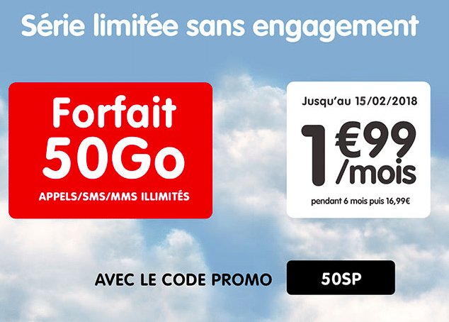 La promotion 50 Go de NRJ Mobile.