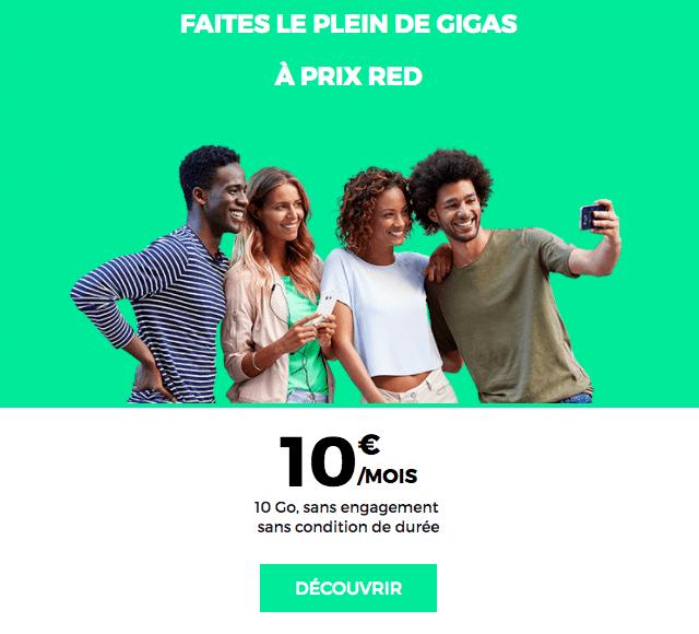 L'offre à 10€ de RED by SFR