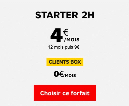 Forfait gratuit SFR