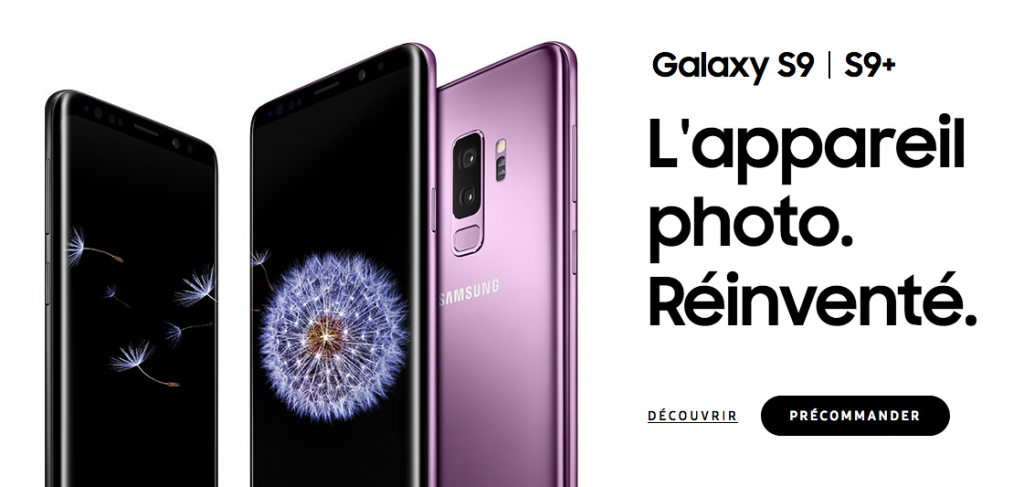 Forfaits avec le Samsung Galaxy S9