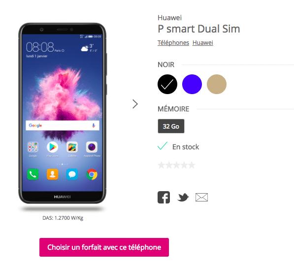 Huawei P smart bouygues telecom