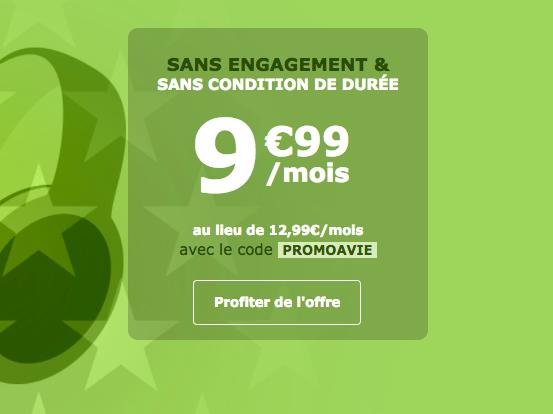 Le forfait 19 Go à 9,99€ par mois.