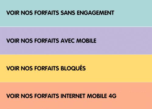 Les types de forfaits proposés par NRJ Mobile.