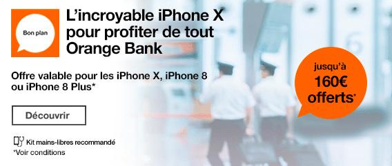 Orange bank iPhone X