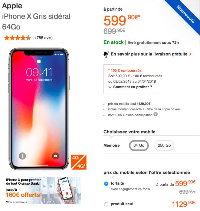 Orange iPhone X