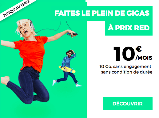 Le forfait 10 Go de RED by SFR