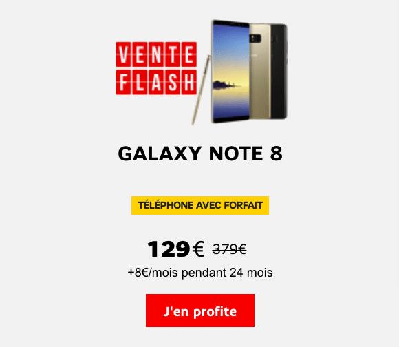 SFR Galaxy Note8