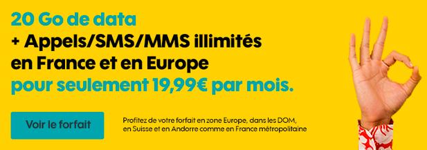 Le forfait mobile Sosh à 19,99€.