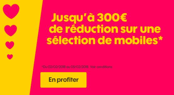 Jusqu'à 300€ de réduction sur une sélection de mobiles avec Sosh.