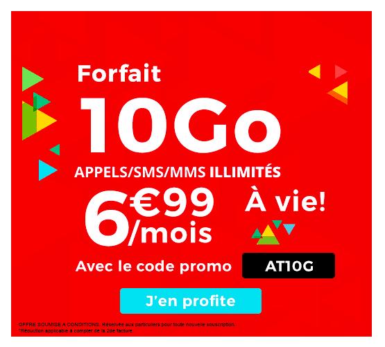 Le forfait mobile d'Auchan Telecom est en promotion cette semaine.