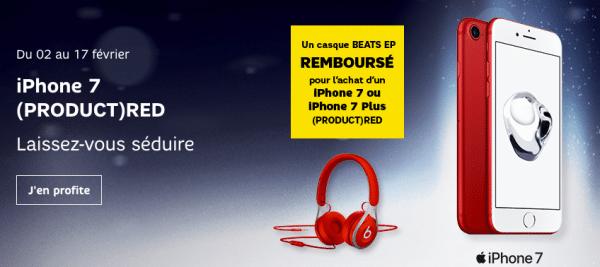 L'offre SFR pour un casque Beat EP offert avec un iPhone 7 ou 7 Plus.