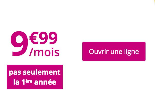 Le forfait B&YOU light 30 Go de Bouygues Télécom.