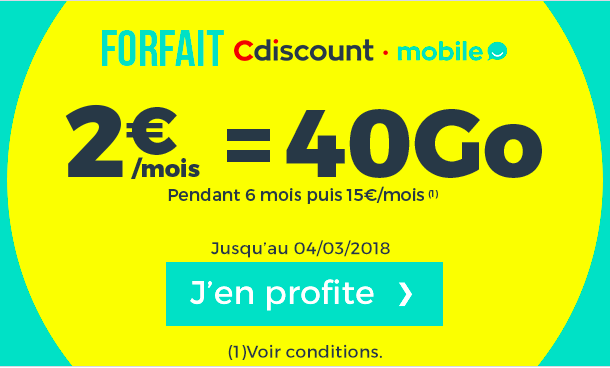 forfait mobile prix promo cdiscount mobile versus nrj mobile. Black Bedroom Furniture Sets. Home Design Ideas