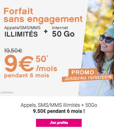 Le forfait de Coriolis Télécom à 9,50€ pendant six mois.