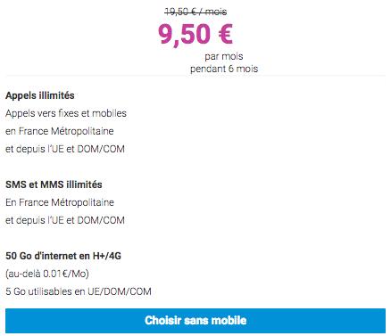 9,50€ pendant 6 mois pour ce forfait de qualité chez Coriolis Télécom.