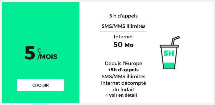 Le forfait mobile RED 50 Mo de RED by SFR.