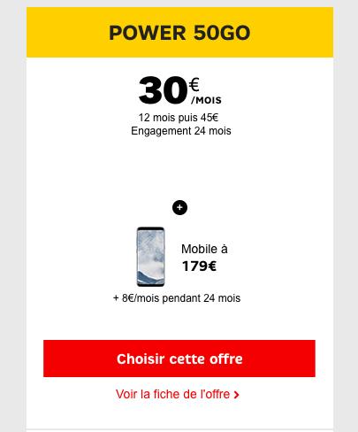 Le Samsung Galaxy S8 est en promotion chez SFR.